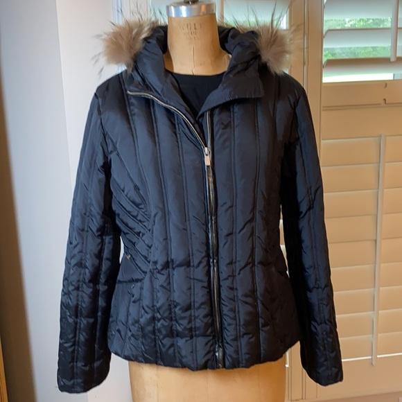 Michael Kors jacket with fur trimmed hood nwot